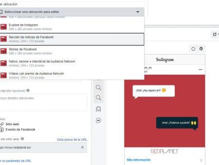 Cómo personalizar anuncios en Facebook e Instagram según la ubicación